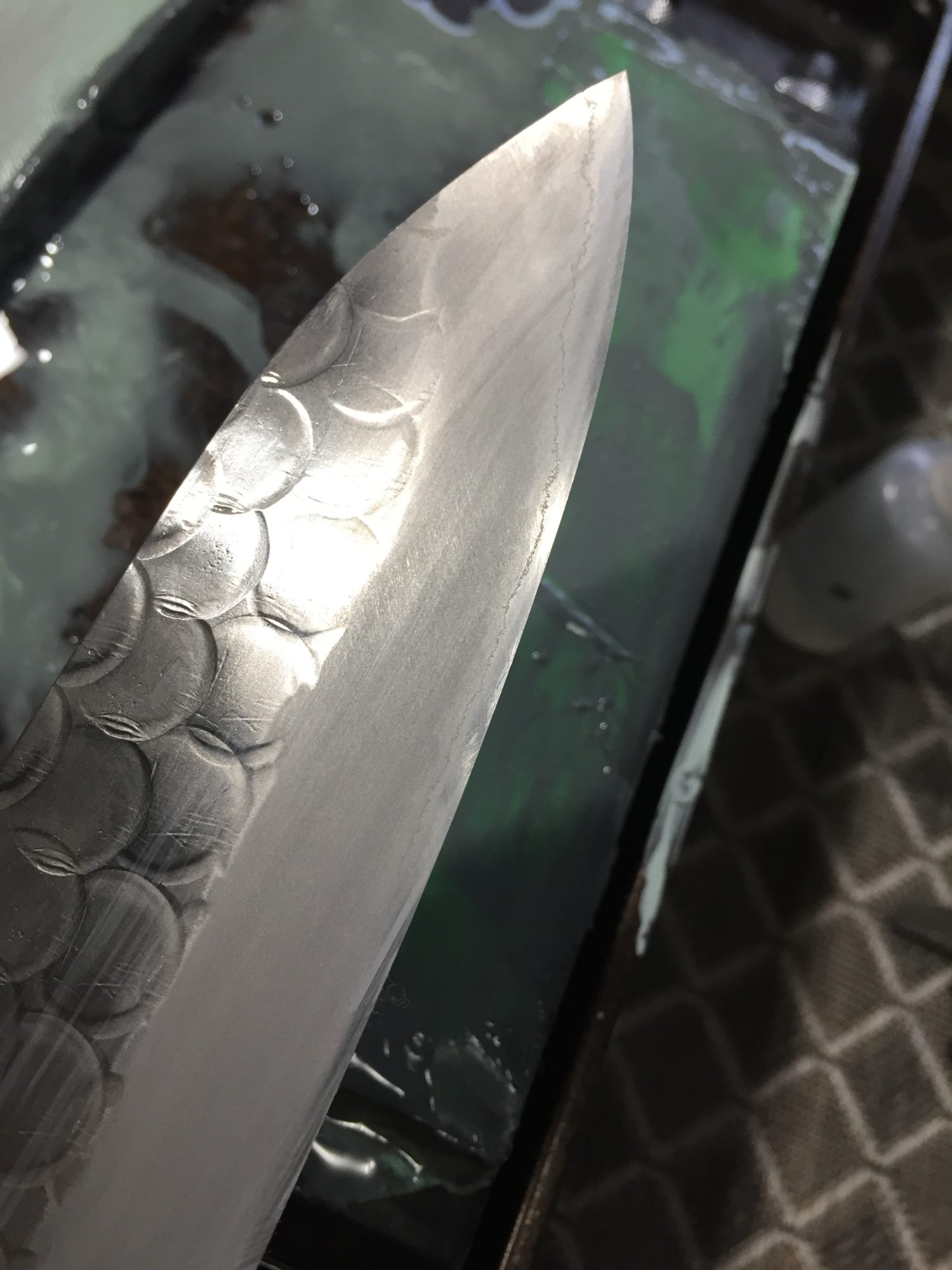 Thinning a Japanese chef knife